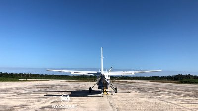 FlyCozumel Airplane Ready to depart