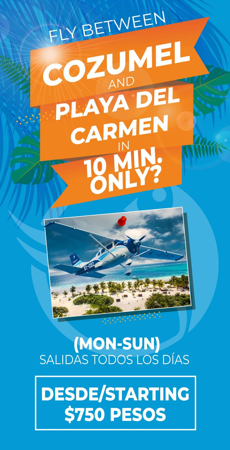 flights playa del carmen cozumel