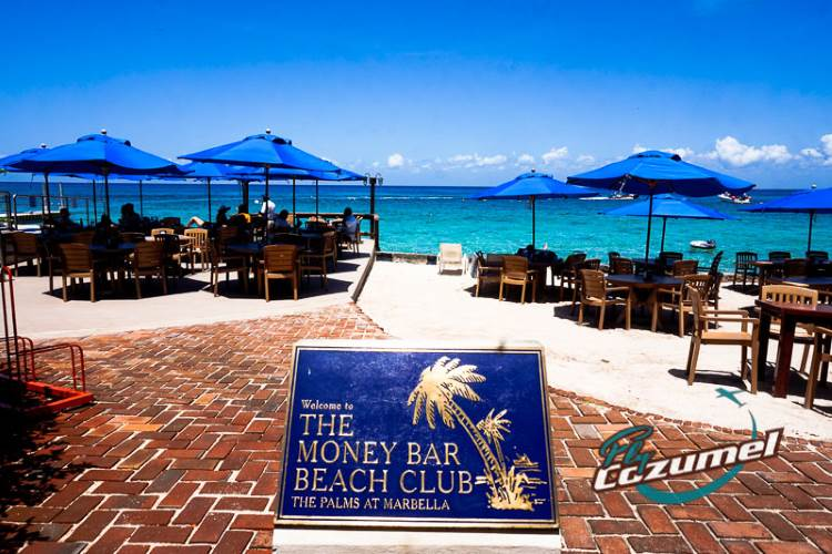 The Money Bar Beach Club Cozumel Island