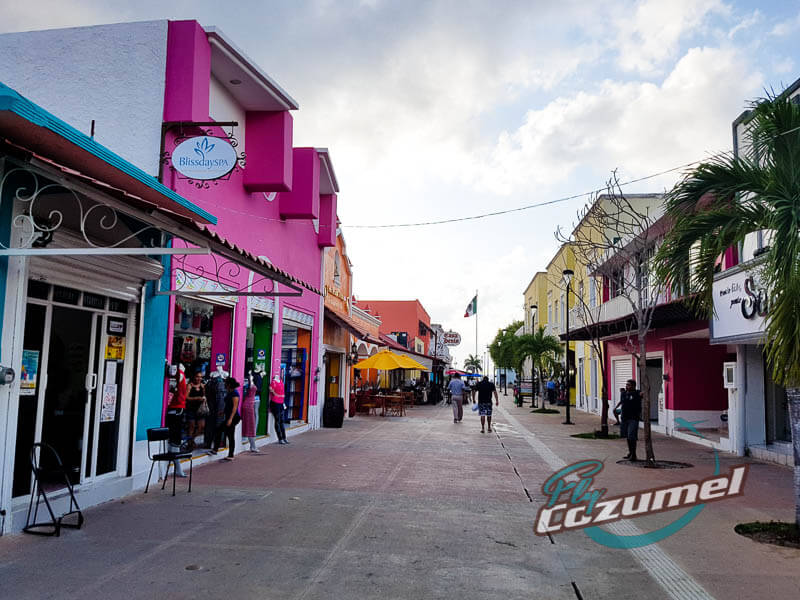 Downtown Cozumel Island