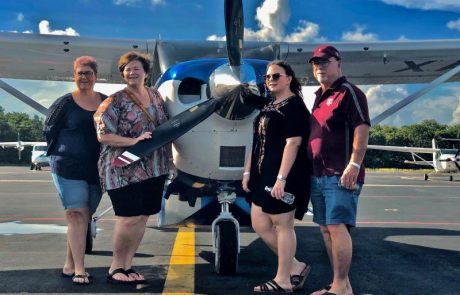 Customers photo with plane