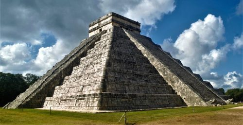 Chichen itza by air plane