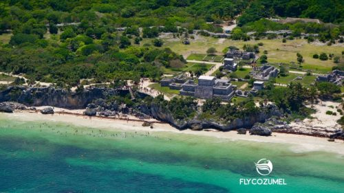 Tulum Mayan Ruins By Plane