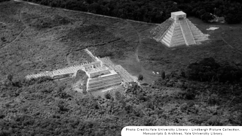 First Chichen Itza pictures by Lindbergh 1929