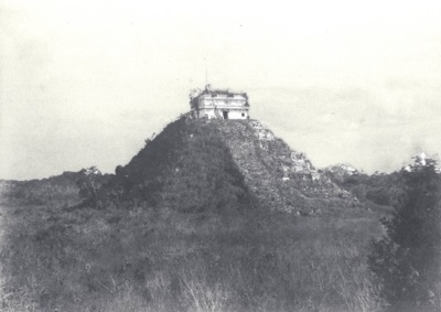 Chichen Itza before cleaning