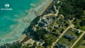 Tulum ruins by plane