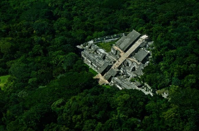 Mayan ruins from the sky flycozumel
